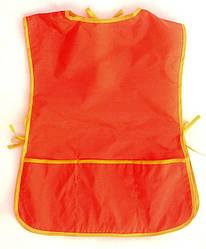 Фартушок для занятий по ручному труду на  9-10 лет Красный
