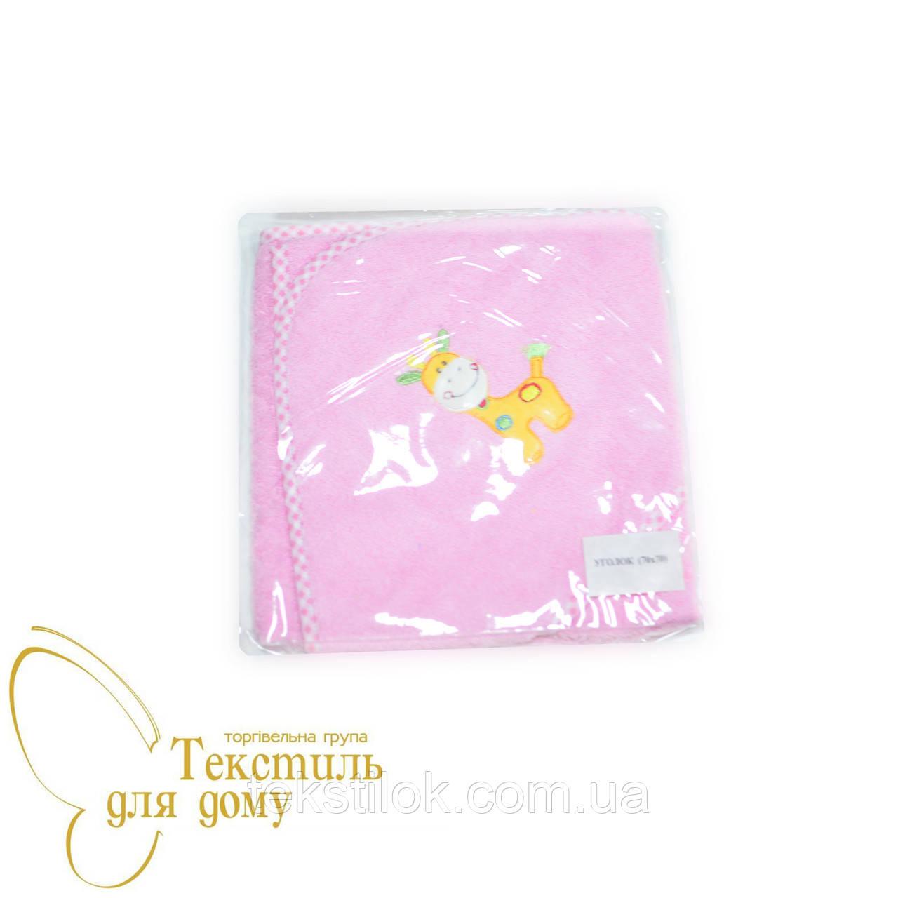 Детский уголок, махра с аппликацией, розовый