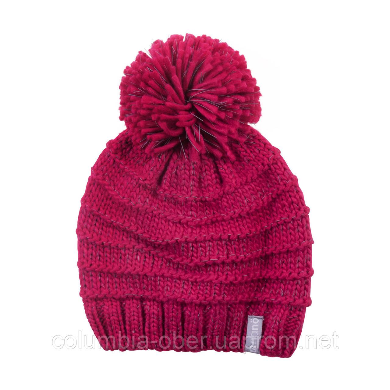 Зимняя детская шапка для девочки Nano F18 TU 278 Raspberry. Размер 7/12.