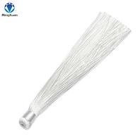 Кисть шелковая, 12 см, цвет белый
