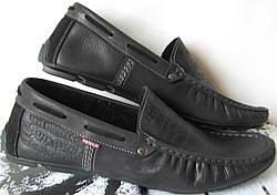 30b72c519c1b9f Levi's демісезонні Стильні чоловічі чорні шкіряні мокасини туфлі весна осінь  Туреччина Левіс репліка