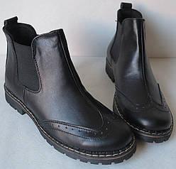 281ea2ad62d797 Жіночі чорні черевики з натуральної шкіри в стилі Timberland, якісна  репліка, демісезон