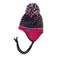 Зимняя детская шапка для девочки Nano F18 TU 282 Deep Gray. Размеры 12/24 мес, 2/4 и 5/6X.