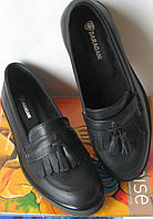 fdb928c92966a2 Promo Стильні шкіряні лофери взуття Loafer Santoni чорні жіночі класичні  туфлі лоуфери шкіра репліка