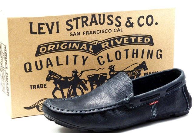 d8dece2db0821f Levi's демісезонні стильні чоловічі чорні мокасини шкіра весна осінь  чоловіче взуття Туреччина Левіс репліка - VZUTA
