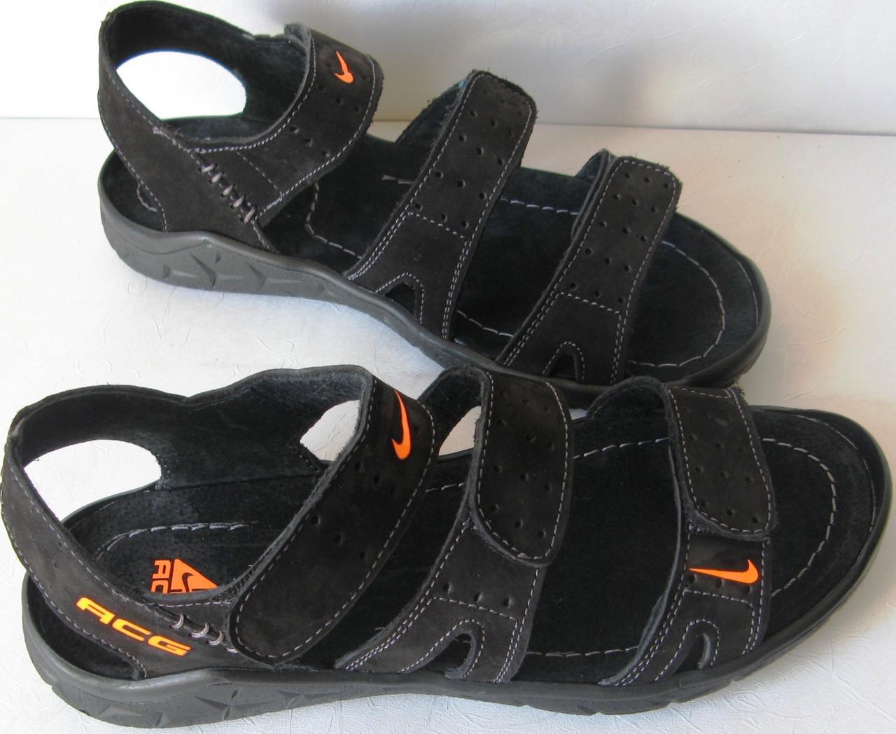 Nike репліка шкіряні чоловічі сандалі c трьома смужками сандалі босоніжки  взуття літо найк ca07974ebe324