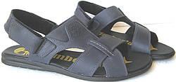 Чоловічі босоніжки Timberland чорні шкіряні сандалі якісна репліка  Тімберланд чоловіче взуття літо 6346c9e4580c9