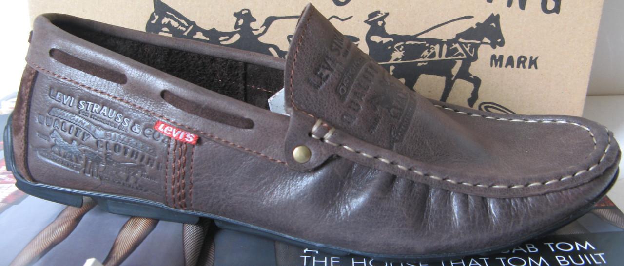 1d15cda37a4abe Levi's демісезонні стильні чоловічі мокасини шкіра весна осінь чоловіче  взуття Туреччина Левіс репліка - VZUTA.