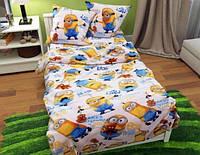 Постель в детскую кроватку МИНЬОН / Комплект детского постельного белья. Ткань Бязь / Коттон