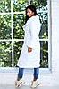 Теплое осеннее стеганное пальто женское из плащевки с объемным шалевым воротом, фото 7