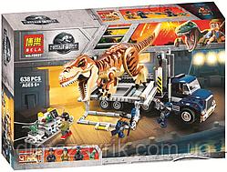 "Конструктор Bela 10927 (Аналог Lego Jurassic World 75933) ""Транспорт для перевозки Тираннозавра"" 638 деталей"