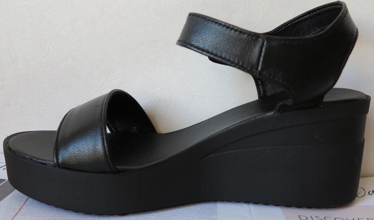 ef72a5b2a785c6 Жіночі шкіряні босоніжки в стилі Kelton! чорні шкіра натуральна на платформі  танкетці Келтон репліка -