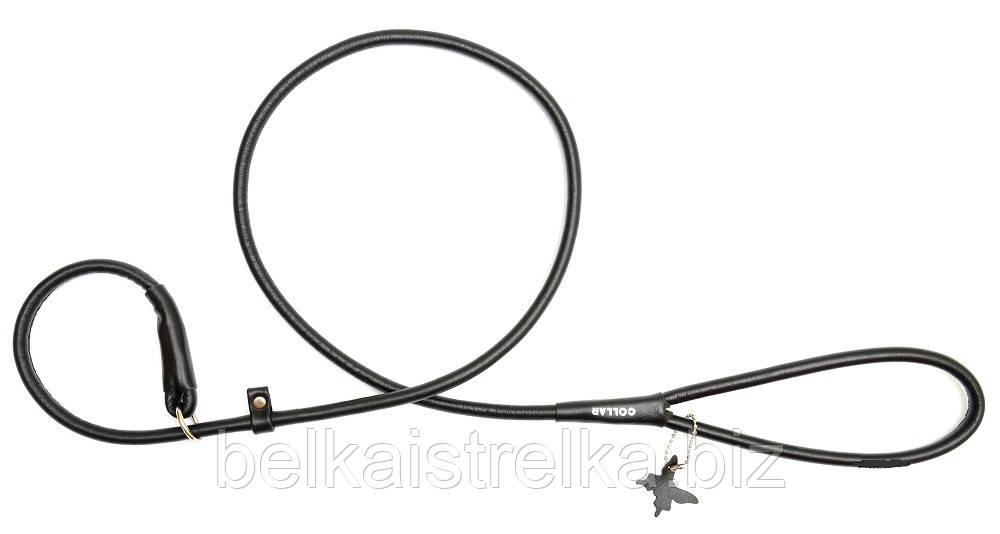 Поводок-удавка круглый COLLAR GLAMOUR для собак, ширина 8мм, длина 135см, 33931 чёрный