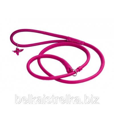 Поводок-удавка круглый COLLAR GLAMOUR для собак, ширина 6мм, длина 135см, 33927 розовый