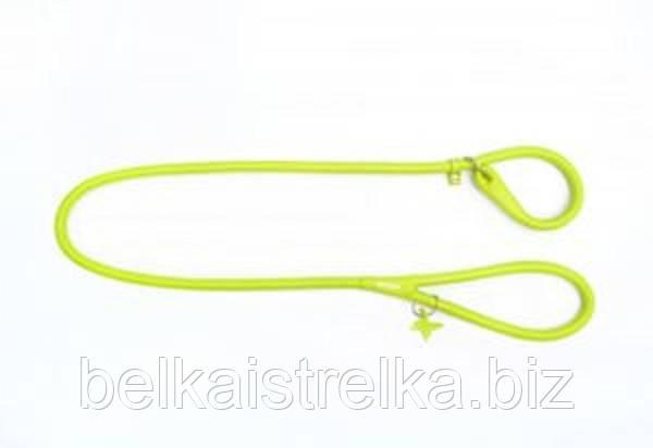 Поводок-удавка круглый COLLAR GLAMOUR для собак, ширина 10мм, длина 135см, 33945 салатовый