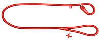Поводок-удавка круглый COLLAR GLAMOUR для собак, ширина 6мм, длина 135см, 33923 красный