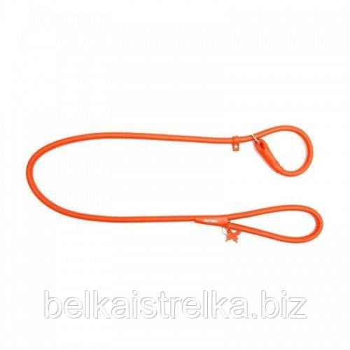 Поводок-удавка круглый COLLAR GLAMOUR для собак, ширина 8мм, длина 135см, 33934 оранжевый