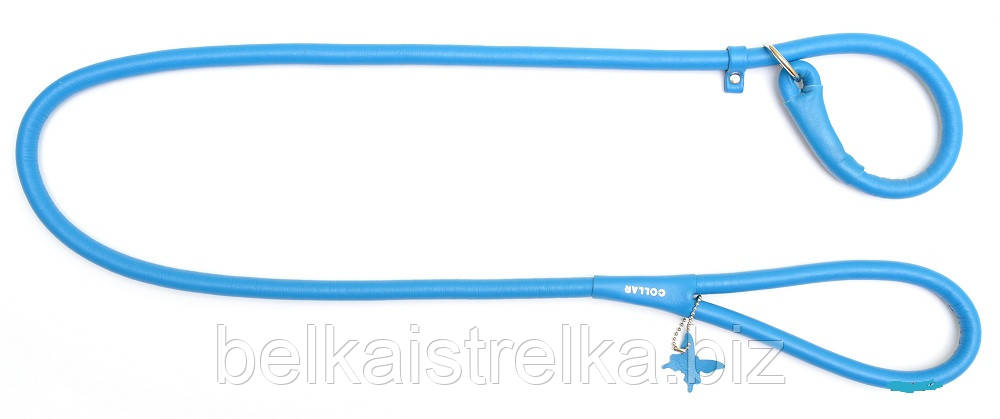 Поводок-удавка круглый COLLAR GLAMOUR для собак, ширина 13мм, длина 135см, 33962 голубой