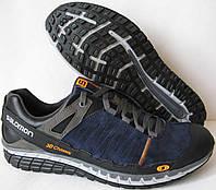 Чоловічі шкіряні кросівки в стилі Salomon натуральна замша сині демісезонні ea401cdece315