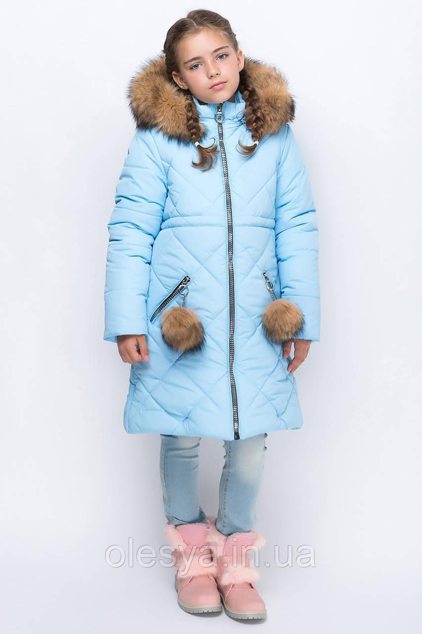 Теплая зимняя куртка для девочки  Размеры 122- 152 Новинка 2018!