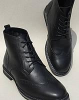 TODS репліка! чоловічі броги Оксфорд на шнурівці натуральна шкіра чорні  черевики демісезон ff38dca77abbf