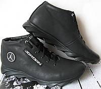 Зимові чоловічі кросівки з натуральної шкіри в стилі Jordan b98e92e016e4e