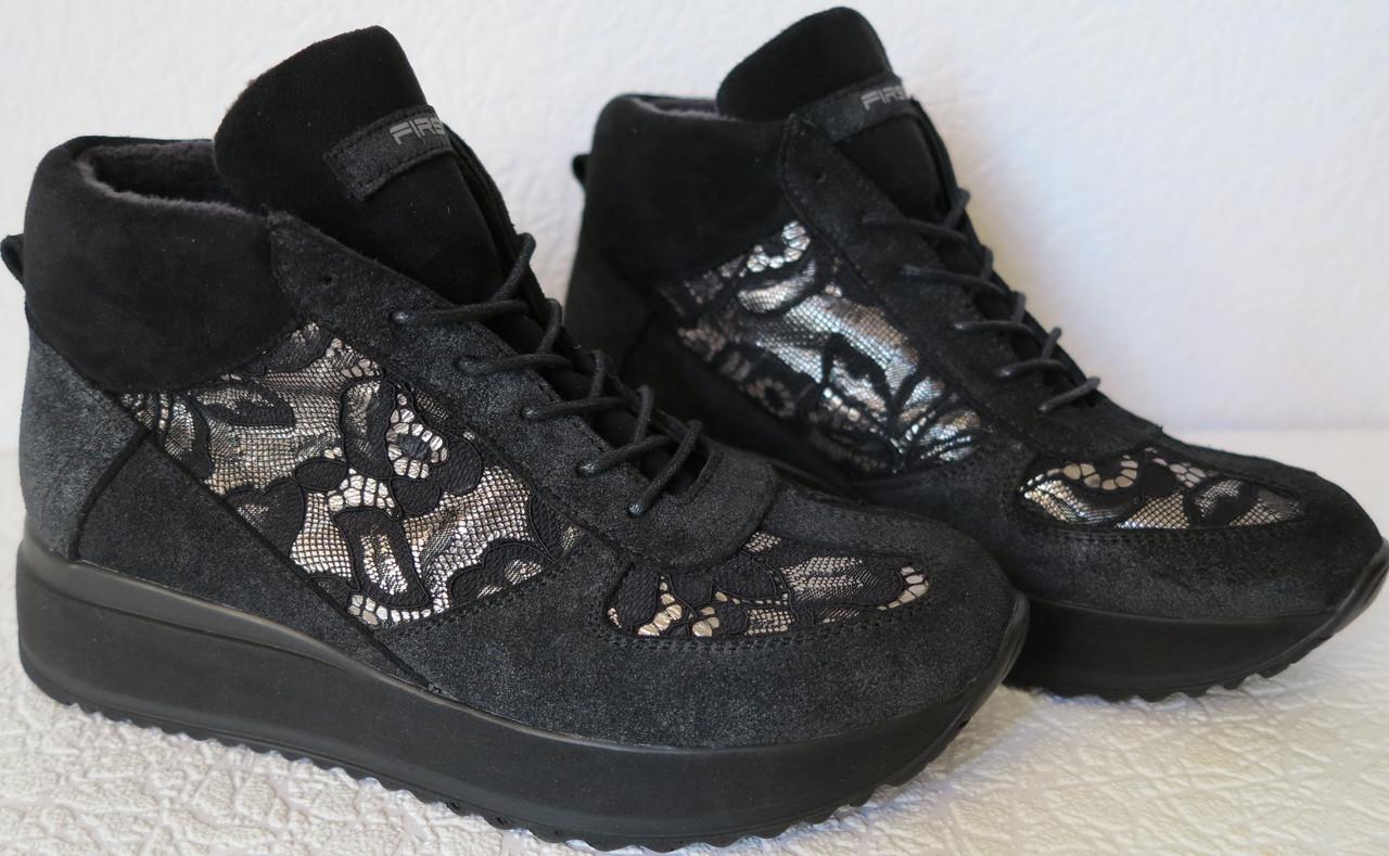 b19acce1c41529 DOLCE & GABBANA жіночі осінні замшеві черевики з гіпюром на танкетці  снікерси репліка - VZUTA.