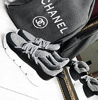 b63ed4702606 Chanel! Жіночі стильні кросівки на високій підошві сірі натуральна шкіра в  стилі Шанель демісезон