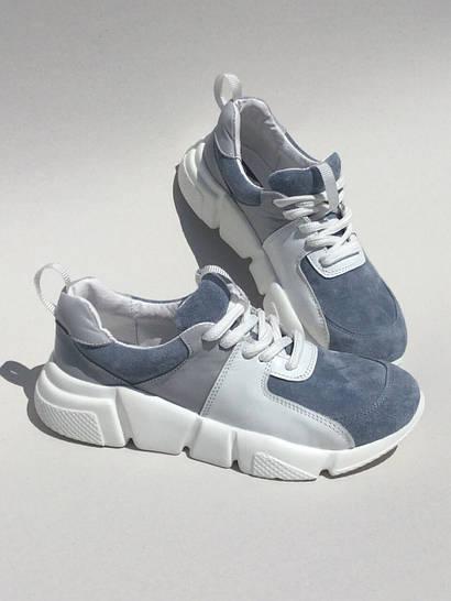 Жіночі кросівки Malibu натуральна шкіра з замшею небесний колір блакитні 4227716690f27