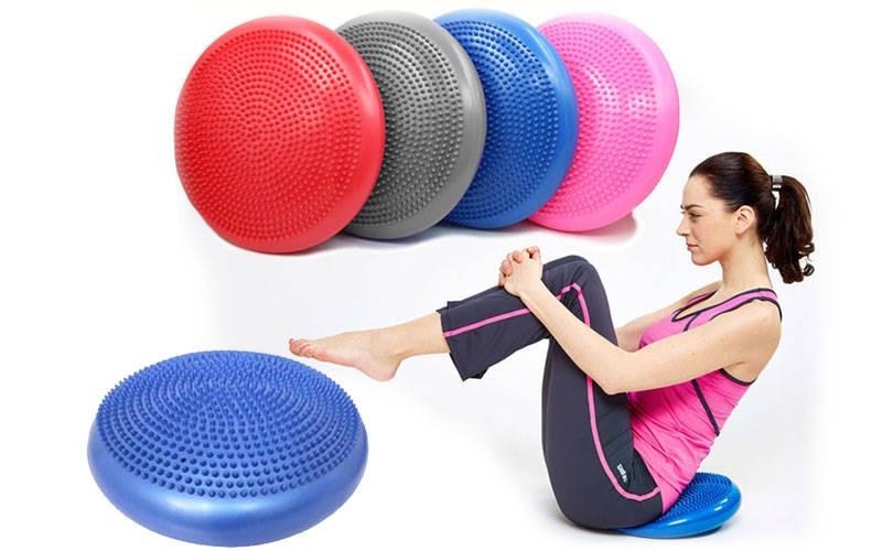 Подушка для балансування масажна FI-4272 BALANCE CUSHION (PVC, d-33см x 5см, 900гр, кольори в асортименті)