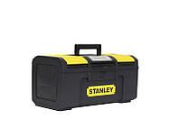 """☑️ Ящик инструментальный пластмассовый Basic Toolbox 39,4 x 22 x 16,2 см (16"""") STANLEY 1-79-216, фото 1"""