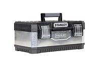 ☑️ Ящик инструментальный металлопластмассовый - гальванизированный (58.4 x 29.3 x 22.2см) STANLEY 1-95, фото 1