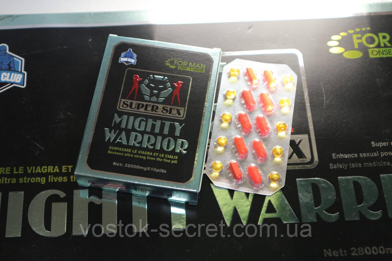 "Могучий Воин - препарат для потенции ""Mighty Warrior"", 10табл+10пилюль"