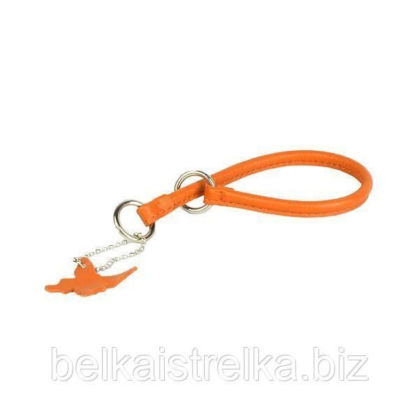 Ошейник-удавка рывковый COLLAR GLAMOUR, ширина 13мм, длина 70см оранжевый 75454