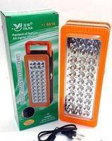 Настольный светодиодный фонарь yajia yj-6816, питание от аккумулятора или 3-х батареек типа d, 33 светодиода