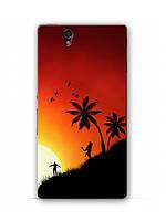 Чехол  для Sony Xperia Z C6602 (ночной пляж)