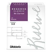 Трости для кларнета Bb D`ADDARIO DCT1030 Reserve Classic Bb Clarinet #3.0 - 10 Box