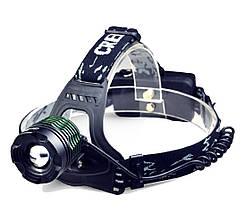 Фонарь налобный BL2188В T6 с оптическим зумом со съемным аккумулятором
