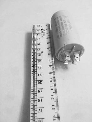 Конденсатор рабочий для электродвигателя CBB60 14uF 450V, фото 2