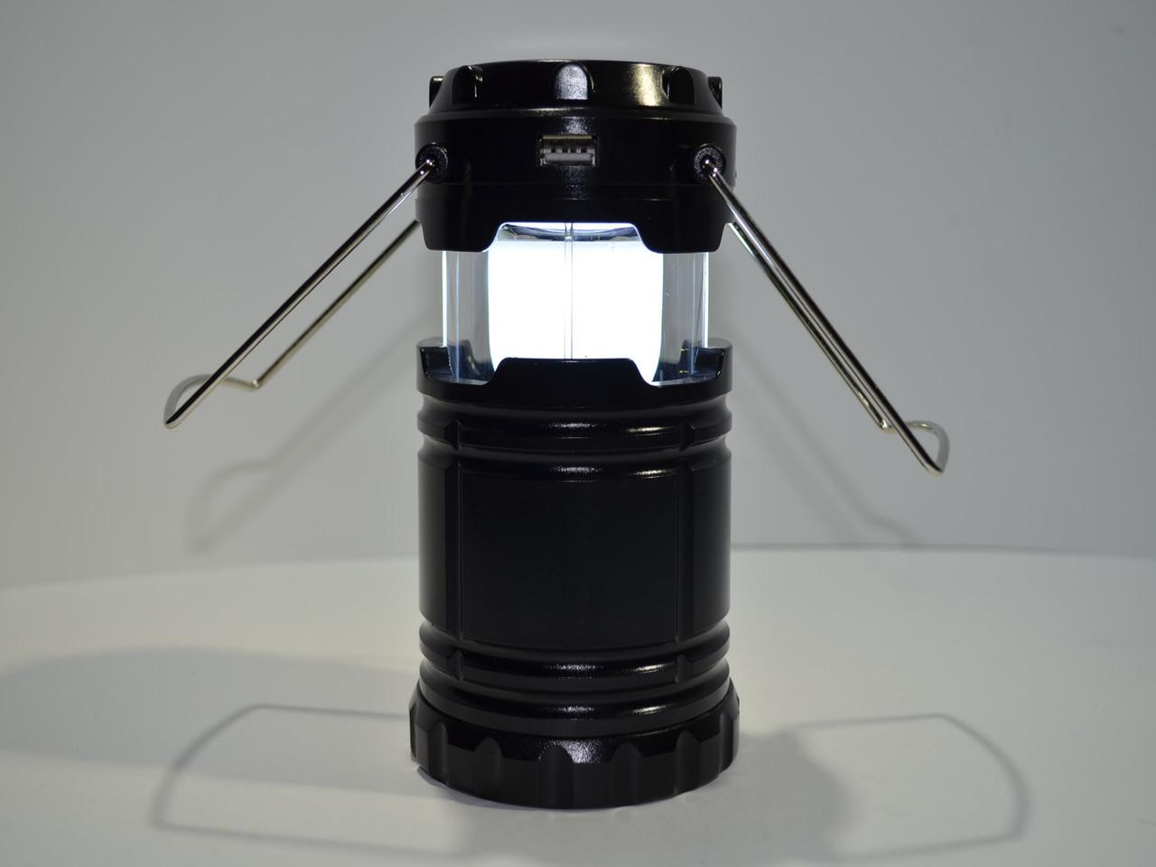 Фонарь кемпинговый + Power Bank с солнечной панелью G85