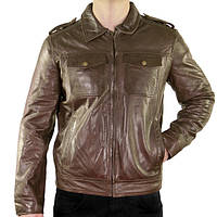 Xelement Mens Urbanite Dark Brown Casual Leather Jacket