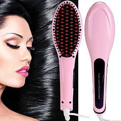 Расческа для выпрямления волос Fast hair HQT-906 с дисплеем