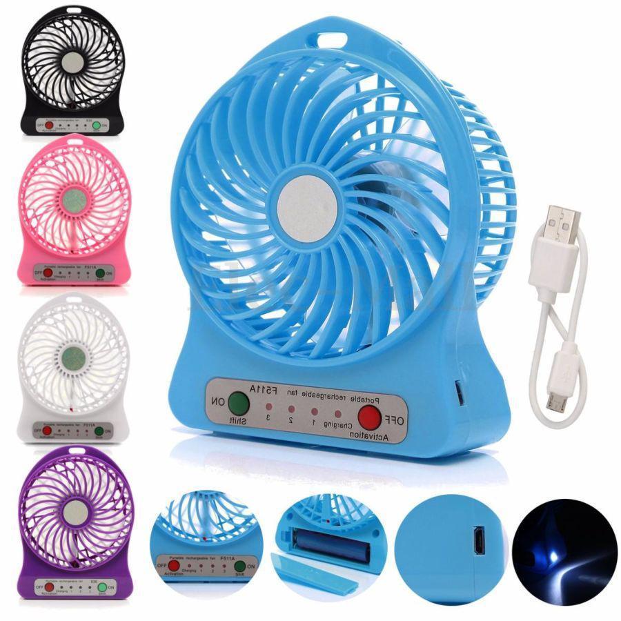 Портативный настольный вентилятор Portable Fan Mini со съемным аккумулятором, мини вентилятор