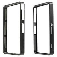 Чехол бампер Sliding метал для Sony Xperia Z3 compact D5803 черный