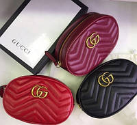 Женская поясная сумка на пояс в стиле Gucci (Гуччи) женская бананка, поясная сумка гучи, Gucci, кроссбоди