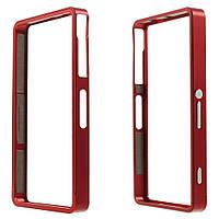 Чехол бампер Sliding метал для Sony Xperia Z3 compact D5803 красный