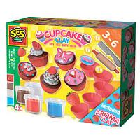 Незасыхающая масса для лепки Фруктовые кексы Ses 4 цвета, инструменты (00479S)