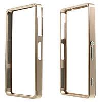 Чехол бампер Sliding метал для Sony Xperia Z3 compact D5803 золотой