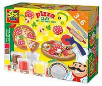Незасыхающая масса для лепки Ses - Пицца (4 цвета, инструменты)