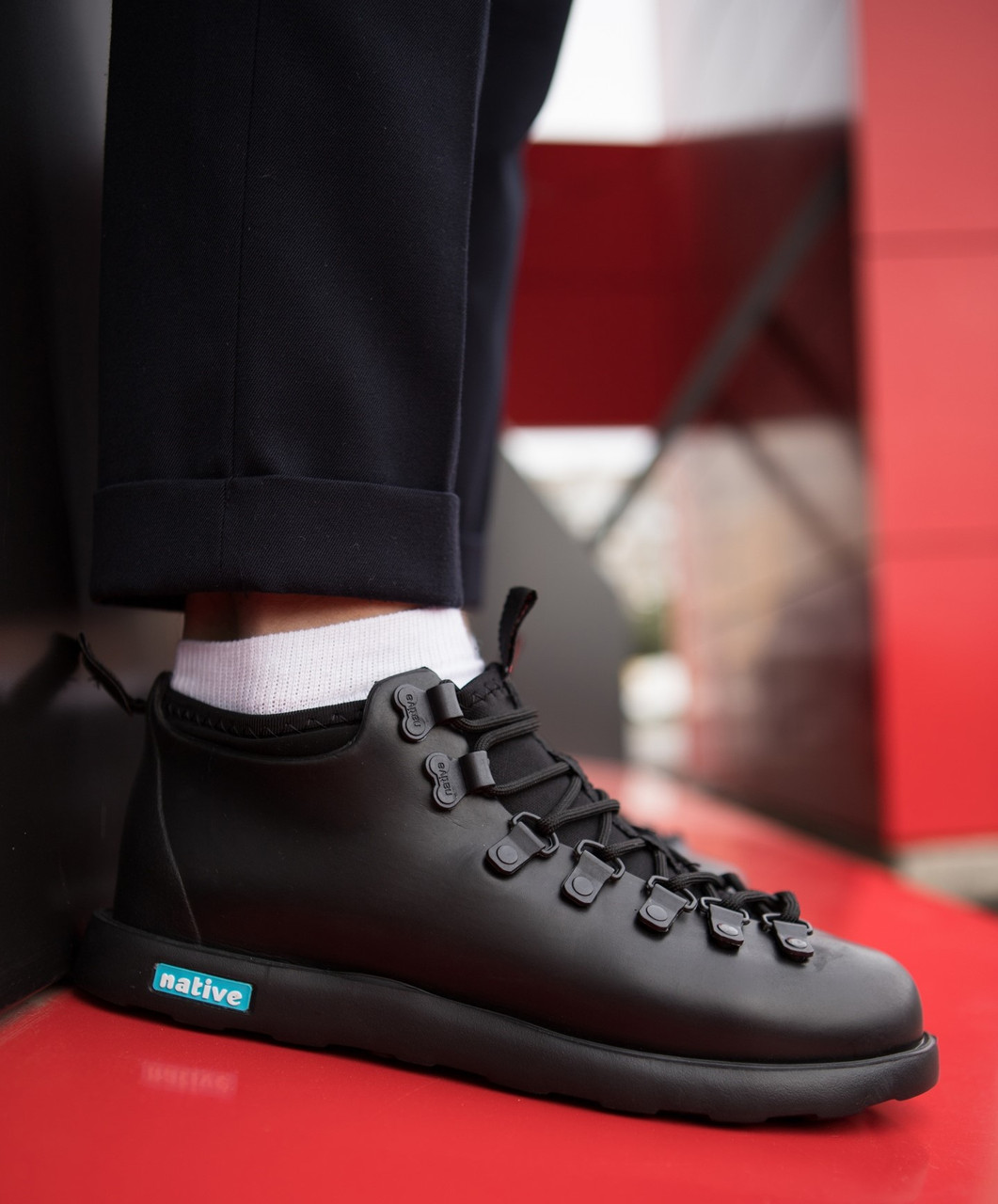 """Зимние ботинки Native Fitzsimmons """"Black"""" (Черные)"""
